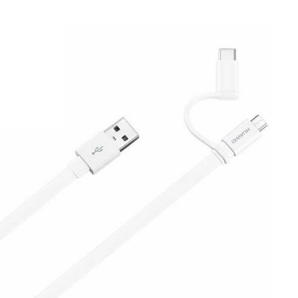 Huawei AP55S USB to MicroUSB and USB-C Data Cable 1.5m white