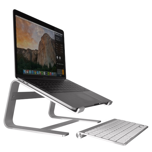 Macally Aluminium Laptop Stand - преносима алуминиева поставка за MacBook и лаптопи (сребриста)