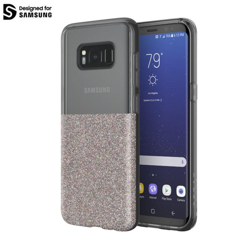 Incipio Classic Case Design Series - дизайнерски удароустойчив TPU кейс за Samsung Galaxy S8 (прозрачен-шарен)