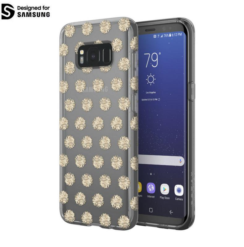 Incipio Classic Case Design Series - дизайнерски удароустойчив TPU кейс за Samsung Galaxy S8 (прозрачен-златист)