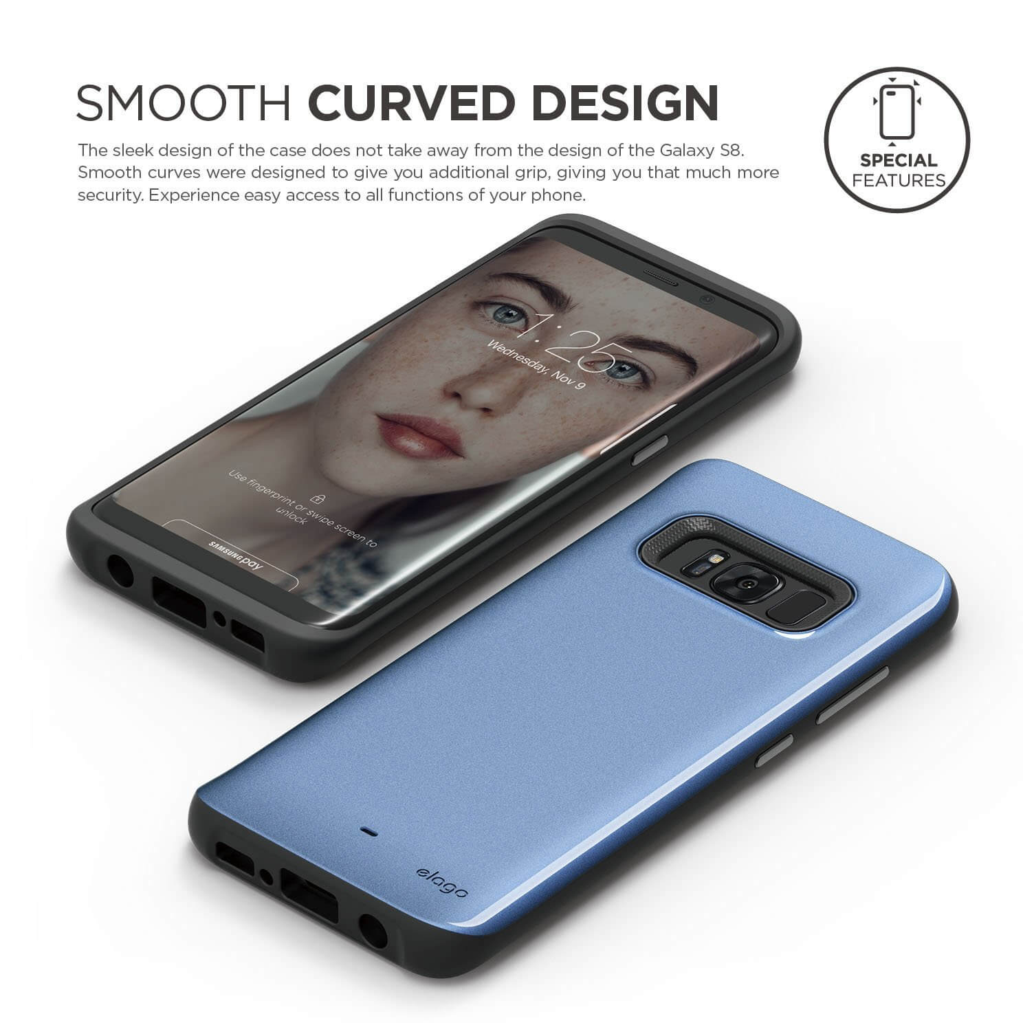 Elago S8 Grip Hybrid Case For Samsung Galaxy Metalic Blue Price In Telephone Hybrids Communications Content From Electronic Design 3