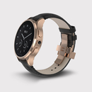 Vector Luna Smartwatch Rose Gold with Black Croco Strap Small Fit  - луксозен Bluetooth тъч часовник за iOS и Android смартфони (черна кожена каишка)