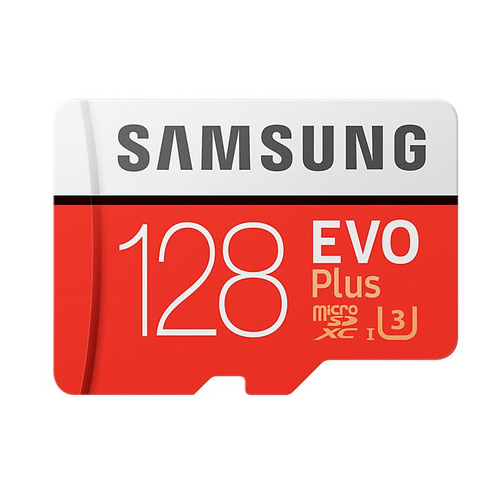 Samsung MicroSD 128GB EVO Plus UHS-I (U3) 4K UHD Videos Memory Card (2017) (GoPro) Compatible