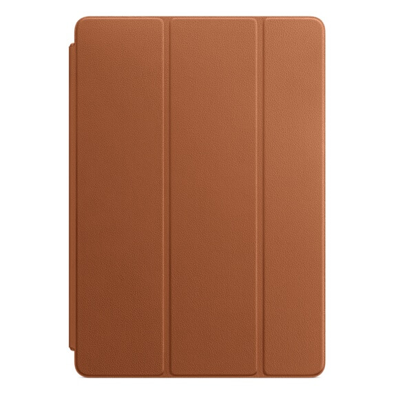 Apple Leather Smart Cover - оригинално кожено покритие за iPad 7 (2019), iPad Air 3 (2019), iPad Pro 10.5 (2017) (светлокафяв)