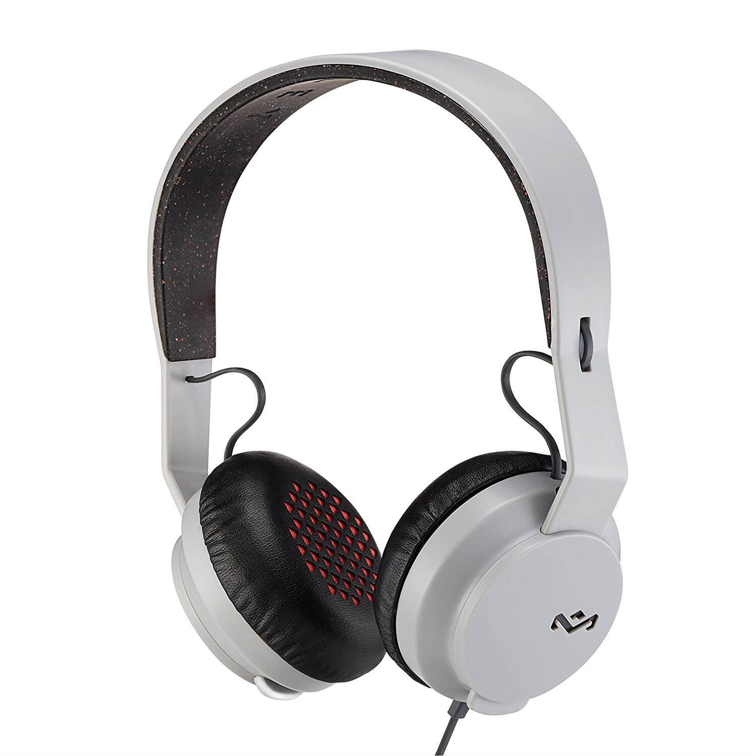 The House of Marley The Roar On-Ear Headphones - слушалки за iPhone, iPod и устройства с 3.5 мм изход (сив)