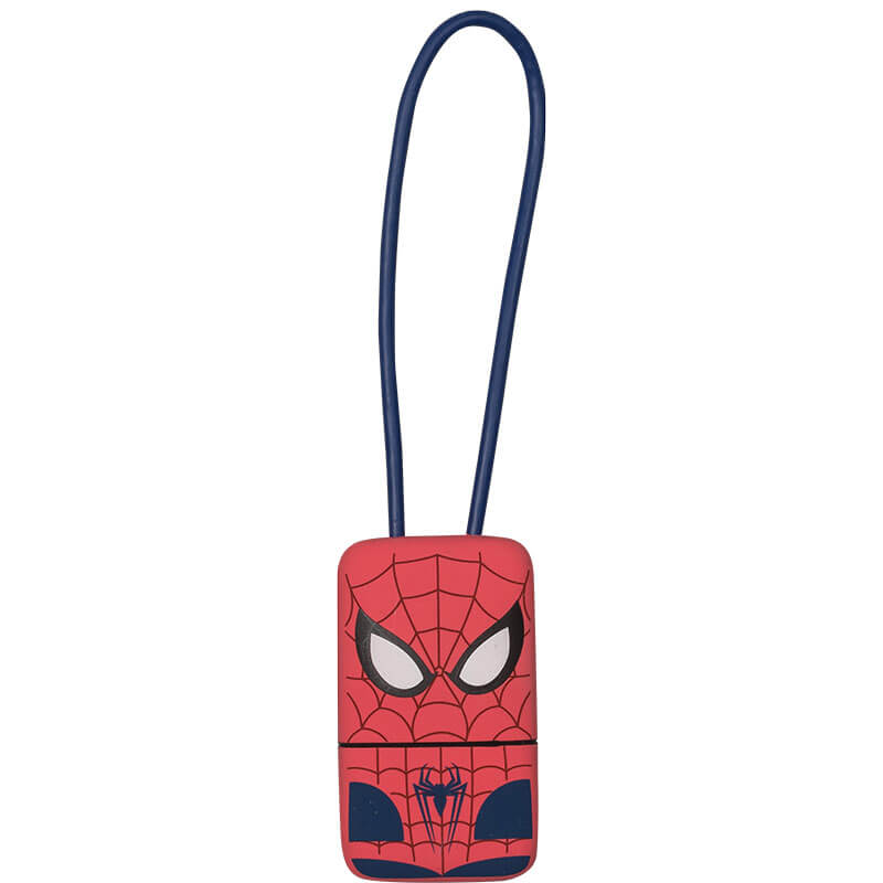USB Tribe Spiderman Lightning Keyline - кабел тип ключодържател за iPhone, iPad и iPod с Lightning (22 см)