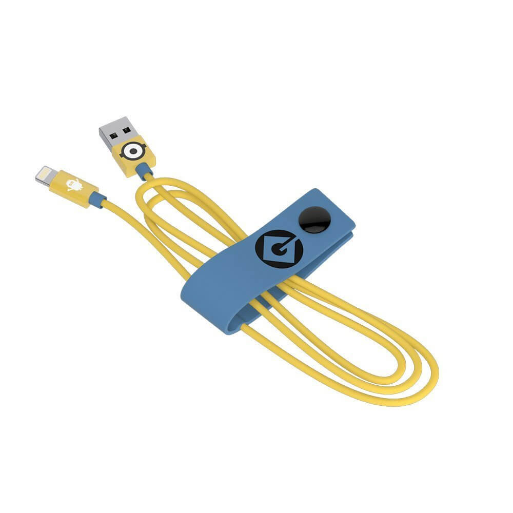 USB Tribe Minions Carl Lightning Cable - сертифициран Lightning кабел за iPhone, iPad и iPod с Lightning  (120 см)