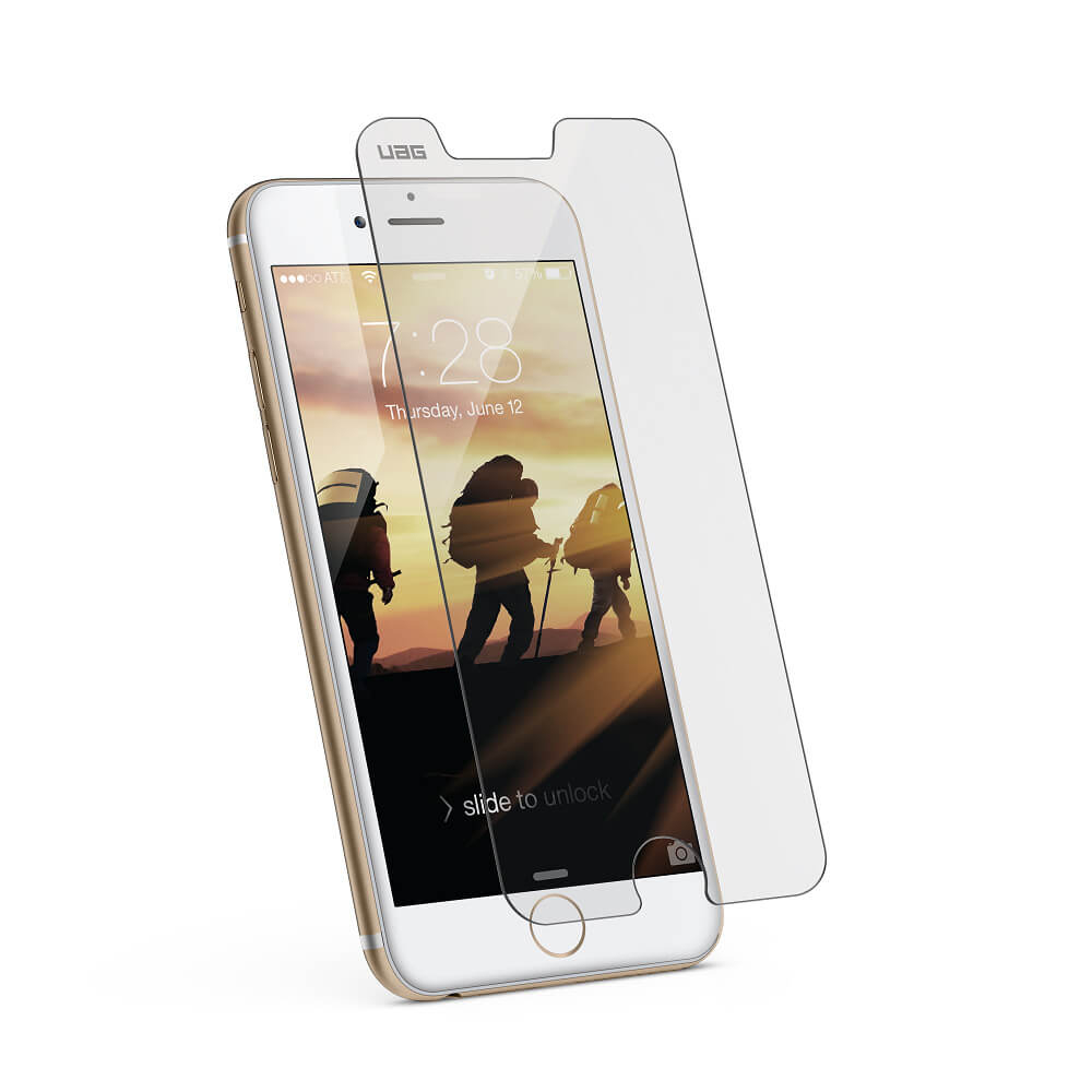 Urban Armor Gear Glass Screen Protector - калено стъклено защитно покритие за дисплея на iPhone 8 Plus, iPhone 7 Plus, iPhone 6S Plus, iPhone 6 Plus