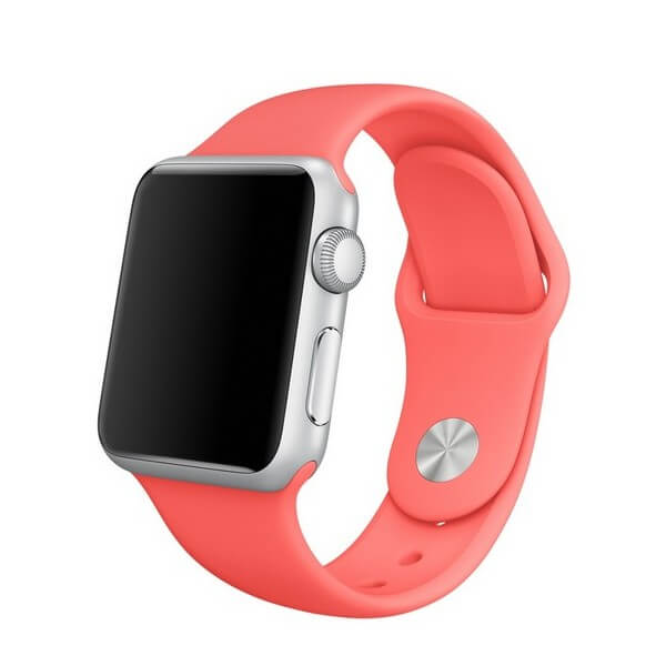 Apple Sport Band S/M & M/L - оригинална силиконова каишка за Apple Watch 38мм, 40мм (розов) (retail)