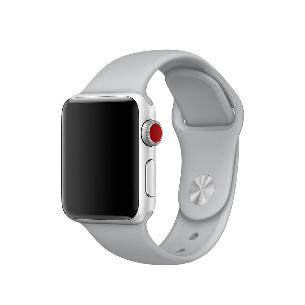 Apple Sport Band S/M & M/L - оригинална силиконова каишка за Apple Watch 38мм, 40мм (бледосив) (retail)