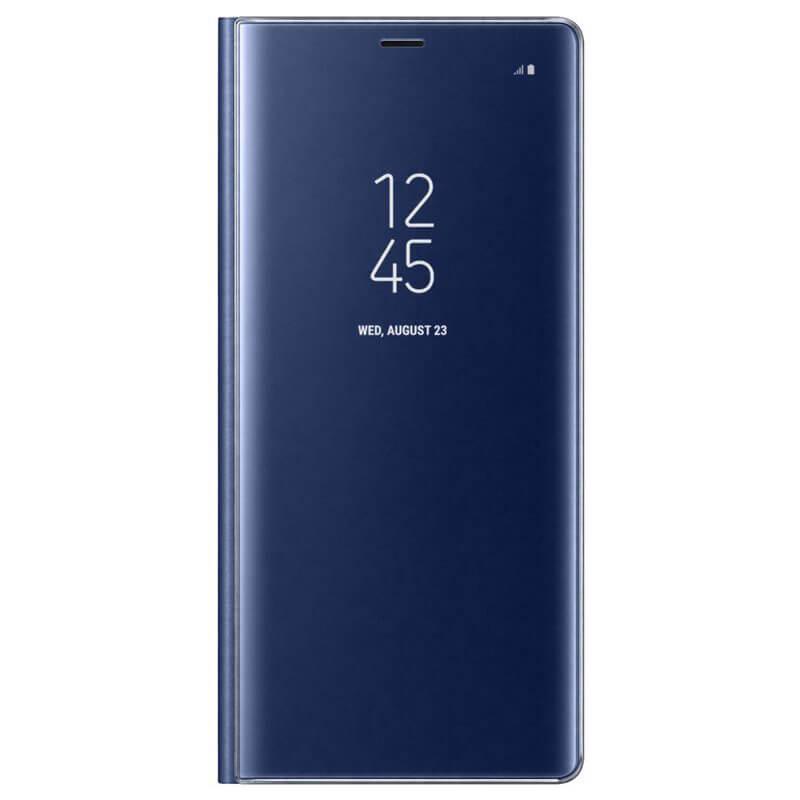 Samsung Clear View Stand Cover EF-ZN950CN - оригинален кейс с поставка, през който виждате информация от дисплея за Samsung Galaxy Note 8 (син)