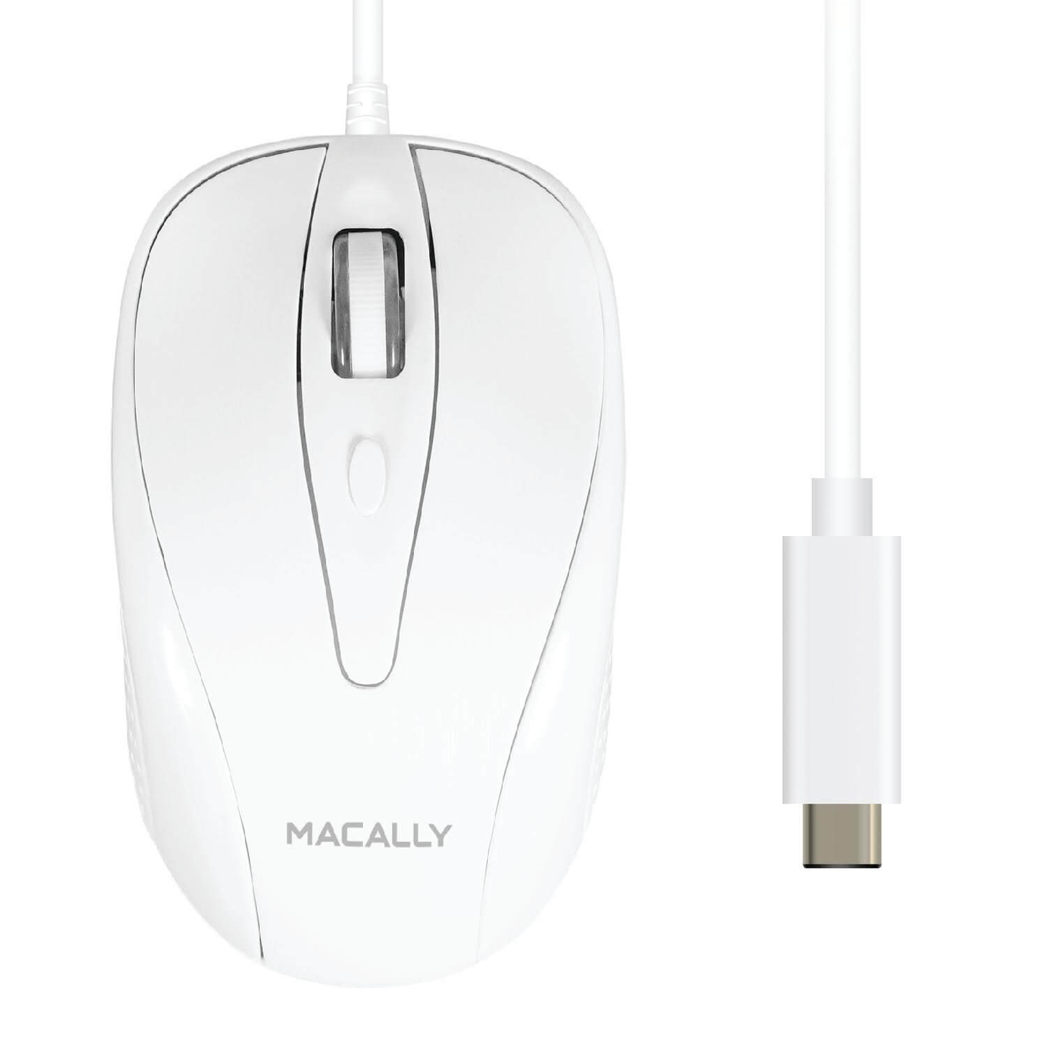 Macally TurboC Mouse - USB-C оптична мишка за PC и Mac