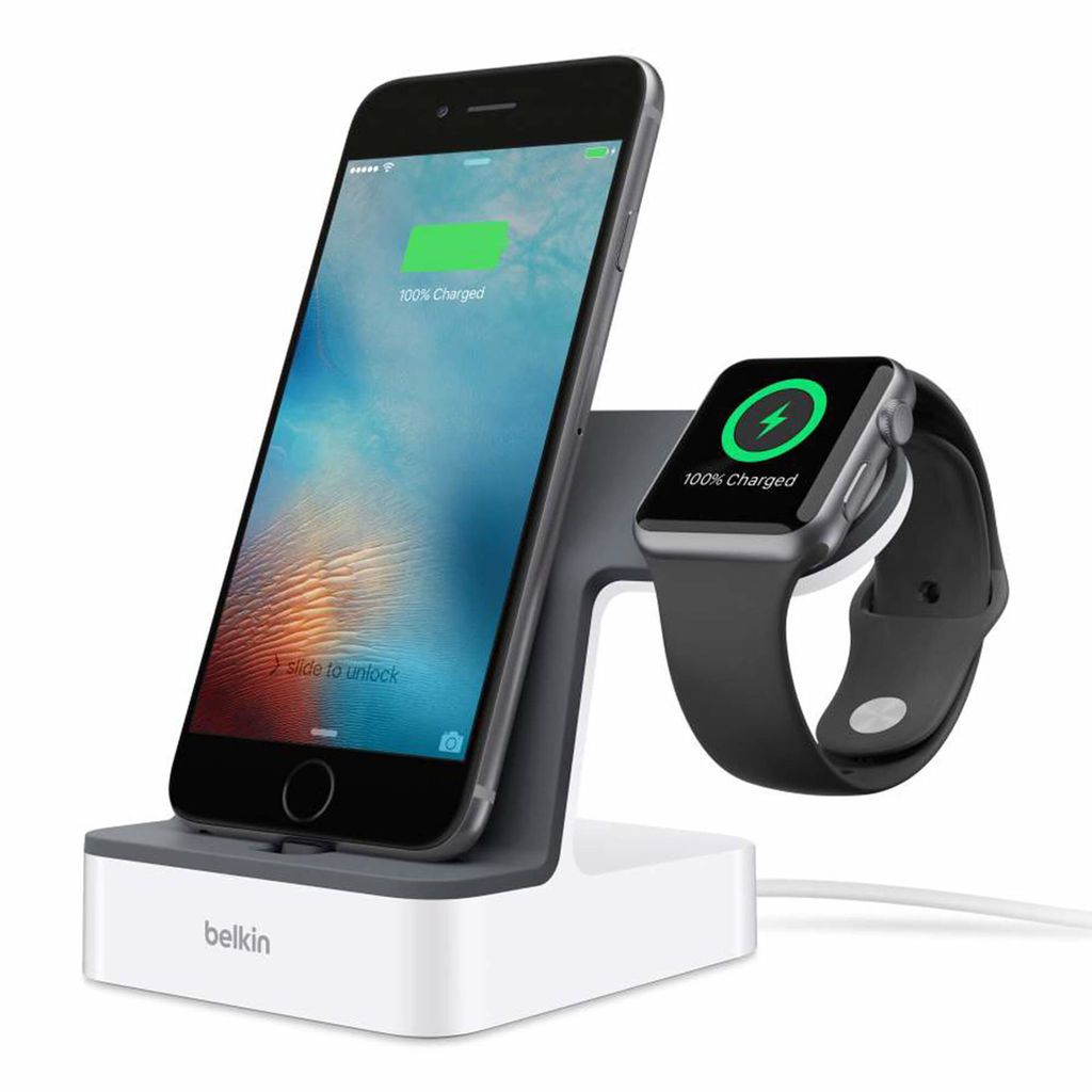 Belkin PowerHouse Charge Dock for Apple Watch and iPhone (white)