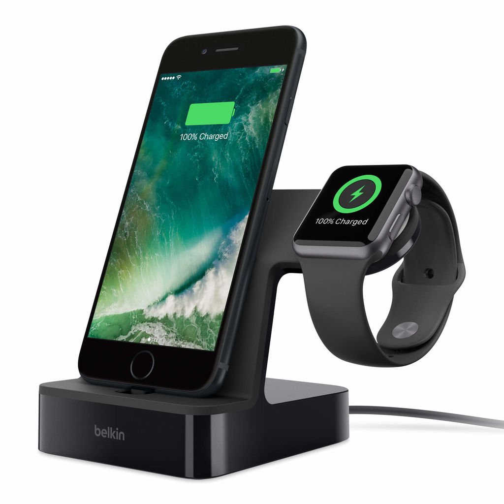 Belkin PowerHouse Charge Dock for Apple Watch and iPhone (black)