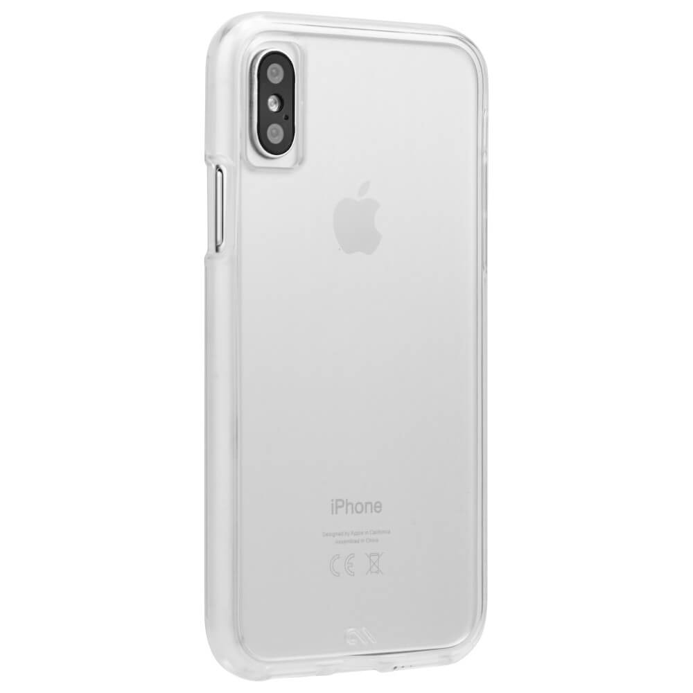 CaseMate Barely There - поликарбонатов кейс за iPhone XS, iPhone X (прозрачен)