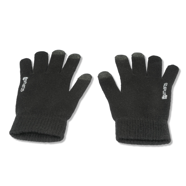 4smarts Winter Gloves Touch Unisex Size S/M (black)