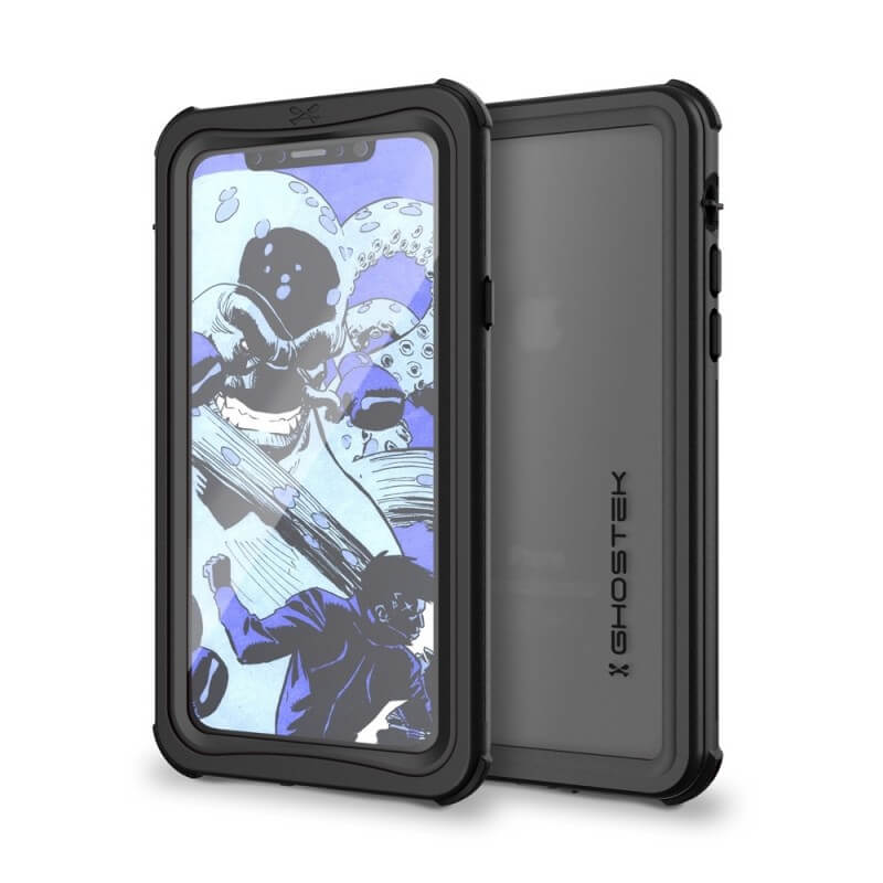 free shipping 9b268 cf527 Ghostek Nautical IP68 Waterproof Case - ударо и водоустойчив кейс за iPhone  XS, iPhone X (черен)