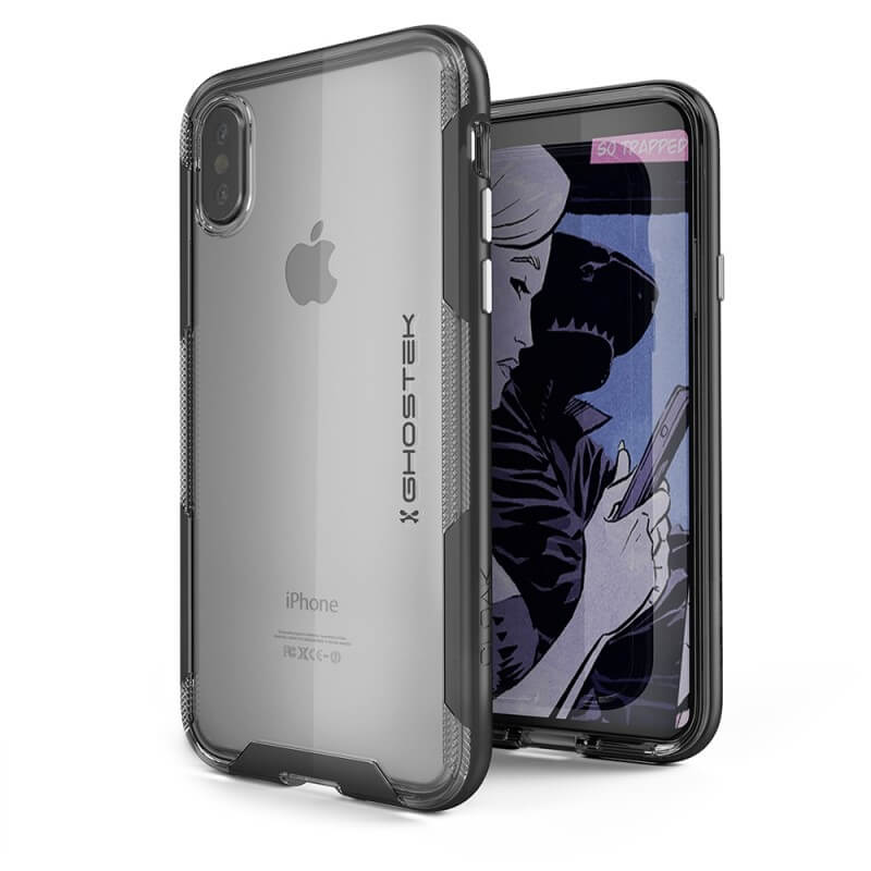 factory authentic 90c9a 3573d Ghostek Cloak 3 Case - хибриден удароустойчив кейс за iPhone XS, iPhone X  (прозрачен-черен)