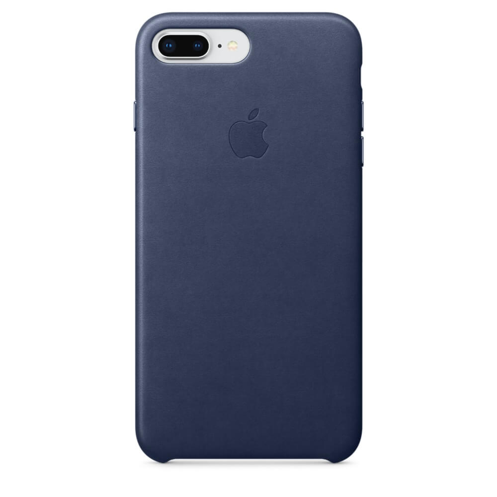 Apple iPhone Leather Case for iPhone 8 Plus, iPhone 7 Plus (midnight blue)