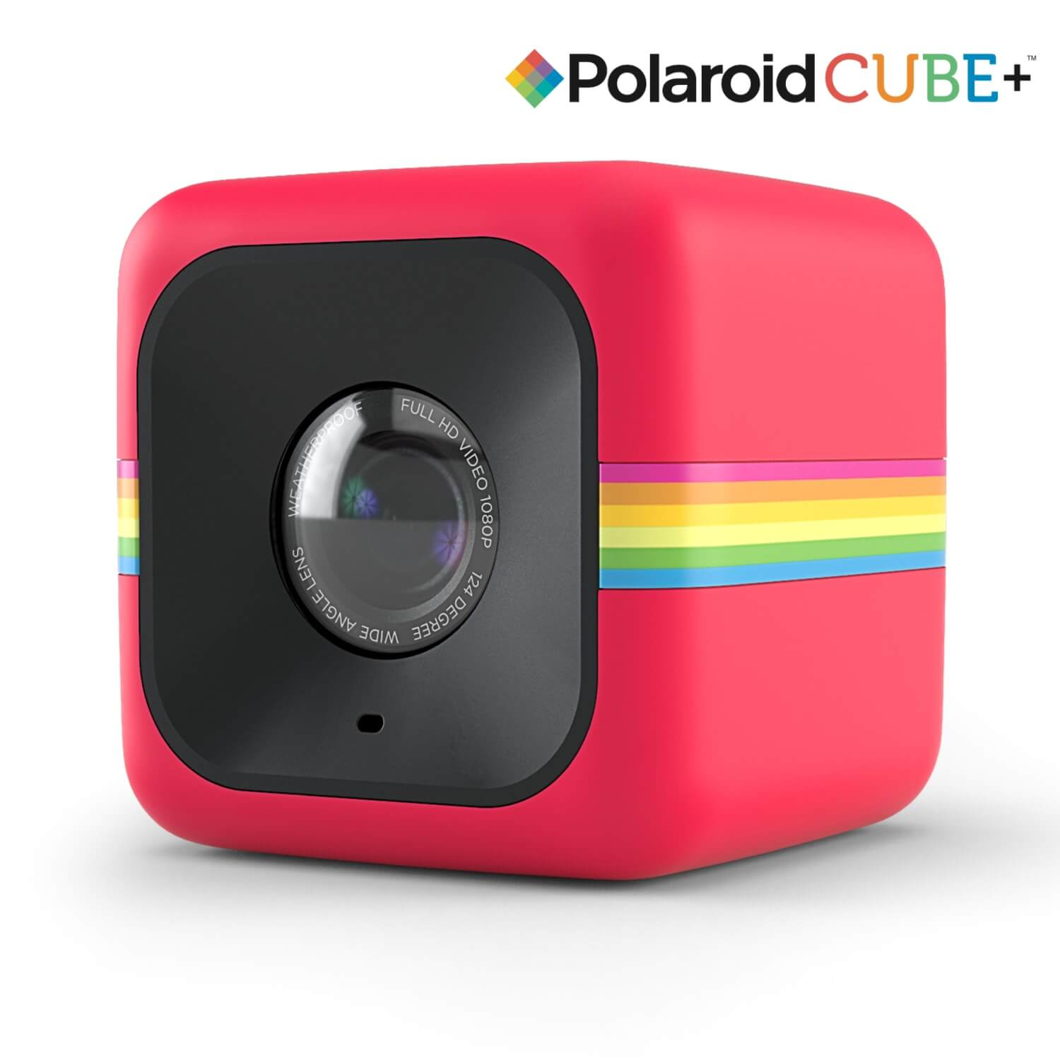 Polaroid Cube Plus Lifestyle Action Camera HD - Red