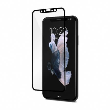 Moshi IonGlass - стъклено защитно покритие за целия дисплей на iPhone XS, iPhone X (прозрачен-черен)