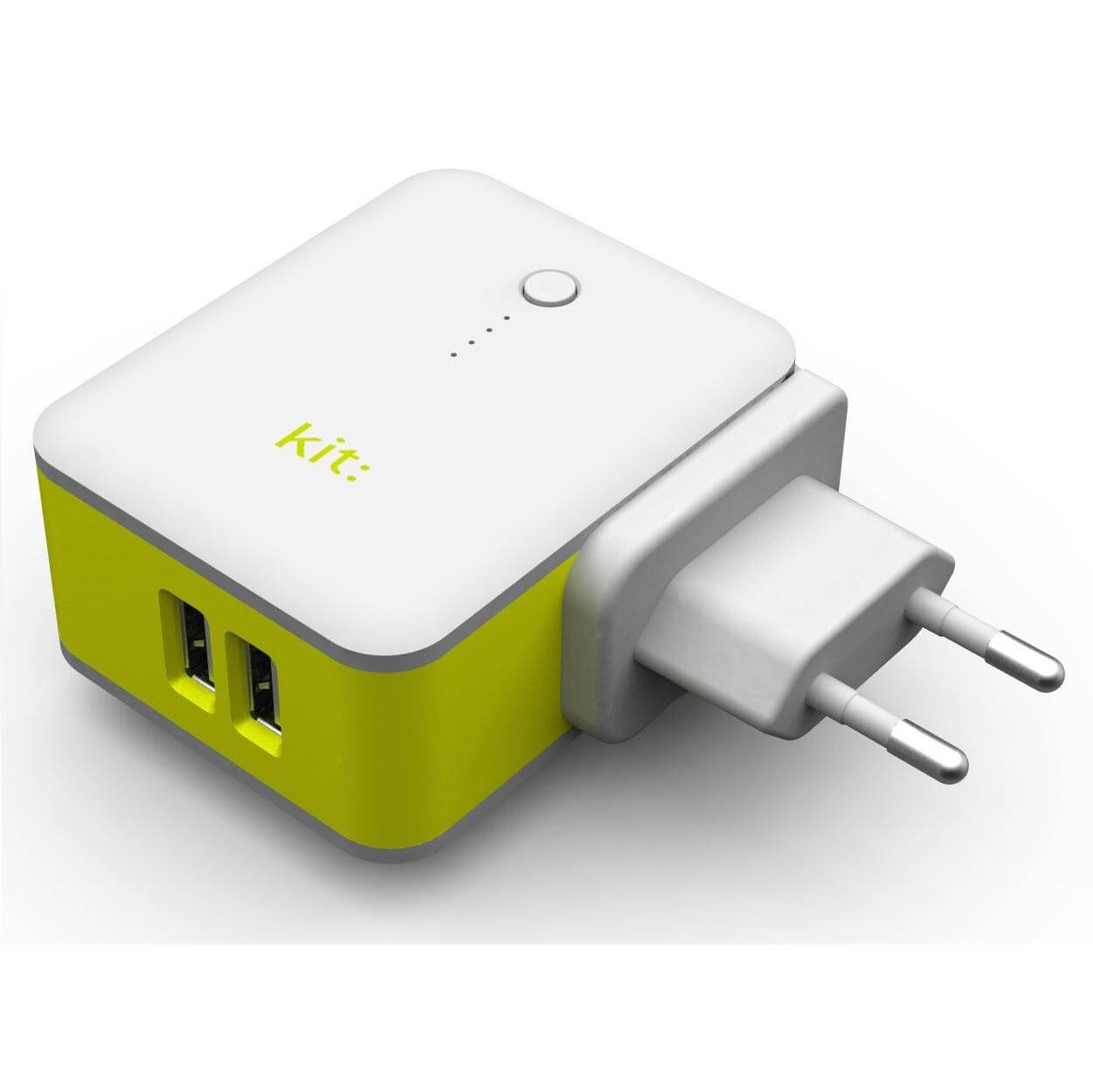 Kit 2in1 International Travel Charger with 3000mAh Powerbank (white)