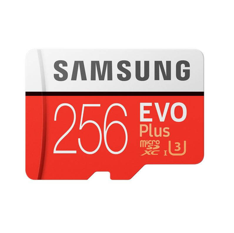 Samsung MicroSDXC 256GB EVO Plus UHS-I Memory Card U3, 4K Ultra HD Video (model 2017)