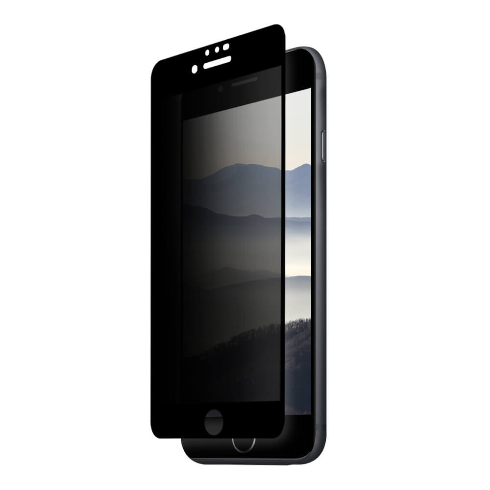Eiger Privacy 3D Tempered Glass Screen Protector for iPhone 8, iPhone 7, iPhone 6S, iPhone 6 (black-clear)
