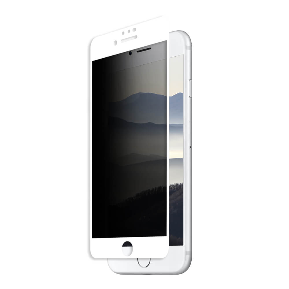 Eiger Privacy 3D Tempered Glass Screen Protector for iPhone 8, iPhone 7, iPhone 6S, iPhone 6 (white-clear)