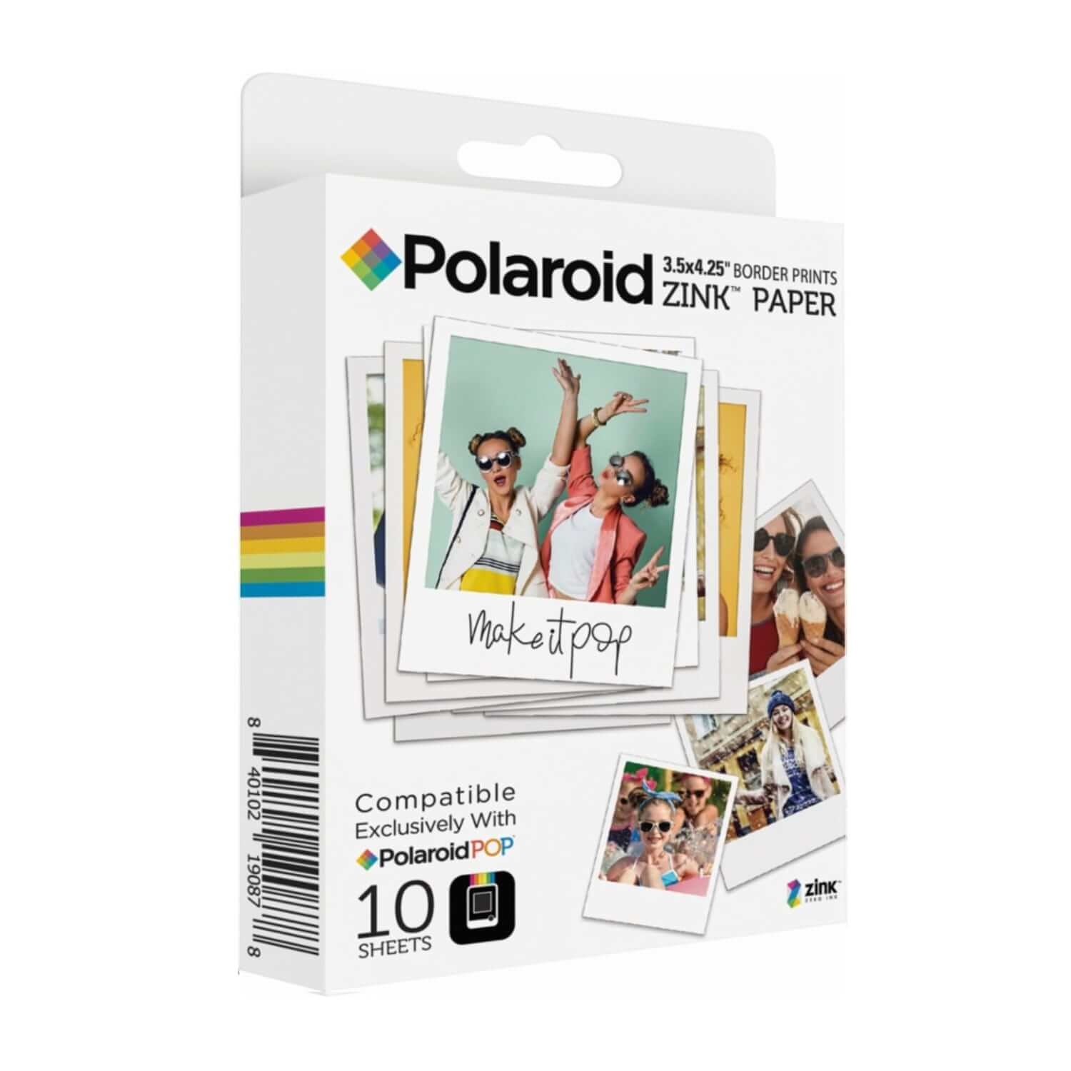 Polaroid Zink Media - фотохартия Zink 3x4 инача (10 пакета)