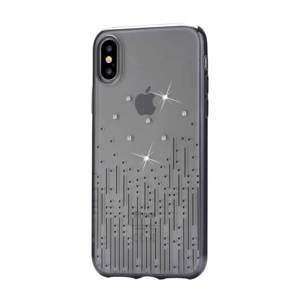 huge selection of e5e53 cac94 Devia Crystal Meteor Case - силиконов (TPU) калъф за iPhone XS, iPhone X (с  кристали Сваровски) (черен)