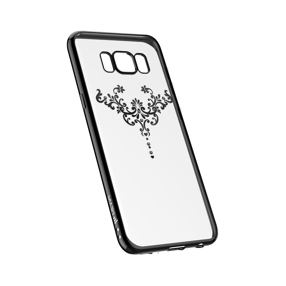 Devia Crystal Iris Case - силиконов (TPU) калъф за Samsung Galaxy S8 (с кристали Сваровски) (черен)