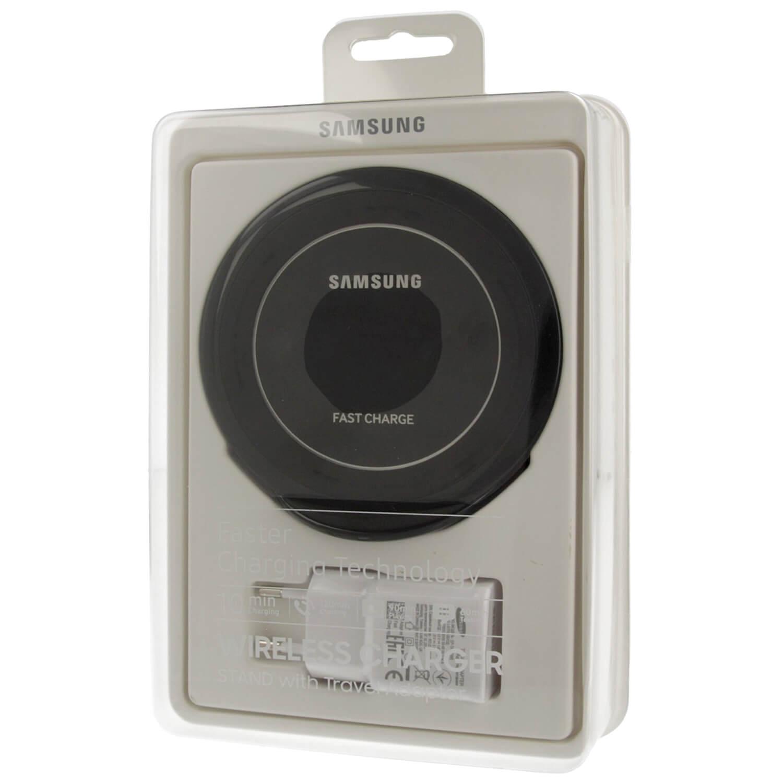 Samsung Inductive Wireless Fast Charge Stand NG930TB - поставка (пад) за безжично захранване с 2.1А захранване и MicroUSb кабел за QI съвместими устройства (черен)
