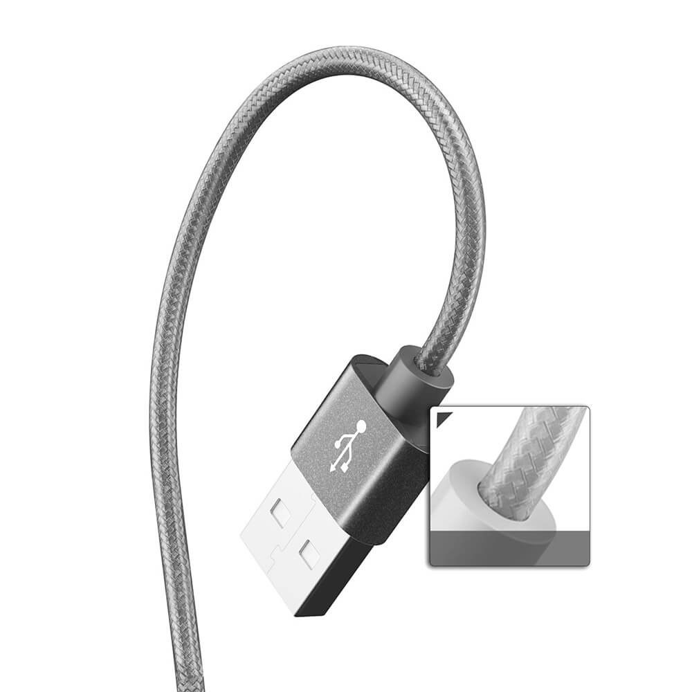 Verus Sync And Charge Lightning Cable For Iphone Ipad Ipod Dark Kabel Untuk Grey