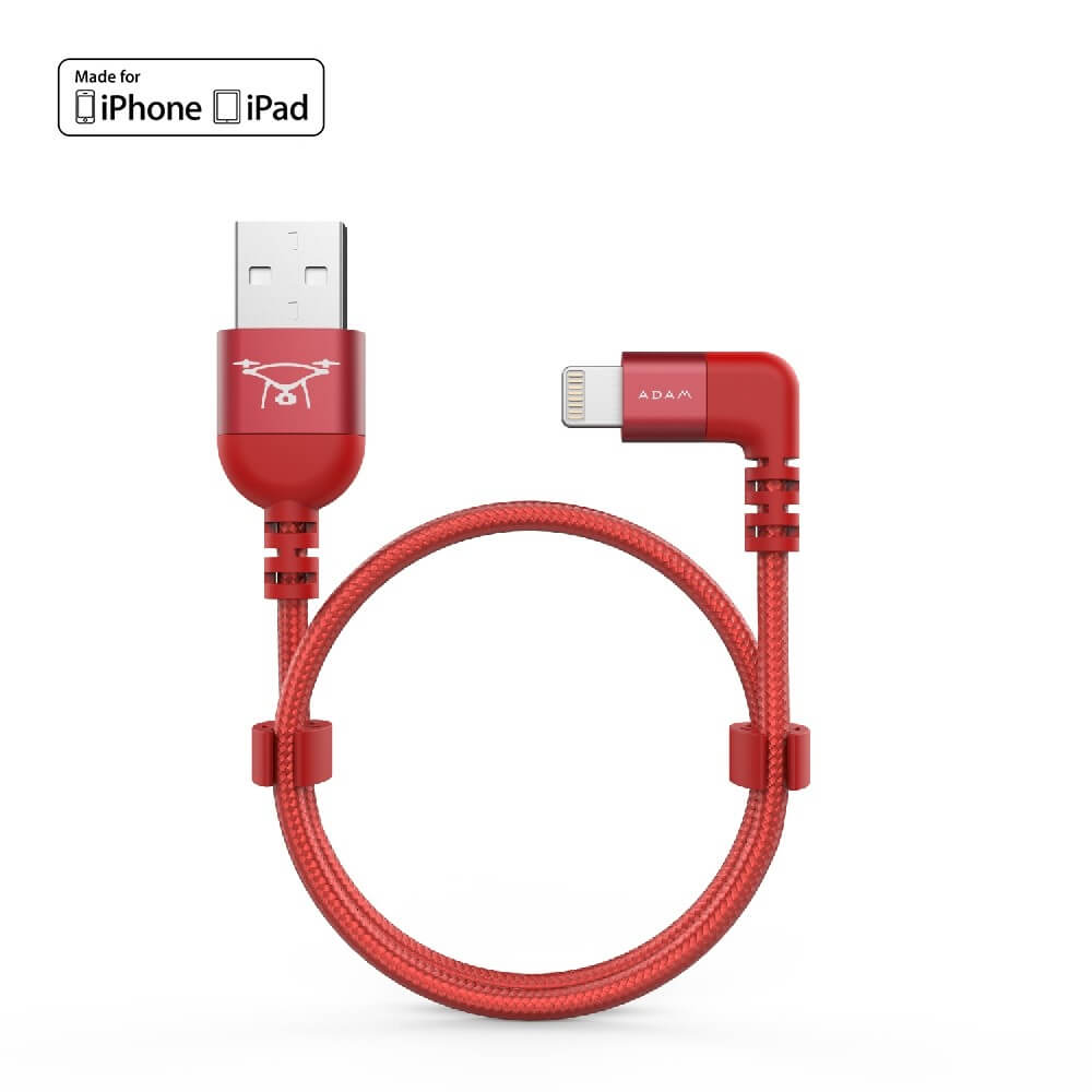 Adam Elements PeAk II USB/Lightning Cable for DJI Remote Controller| 30cm | red | ACBADL30BLRD
