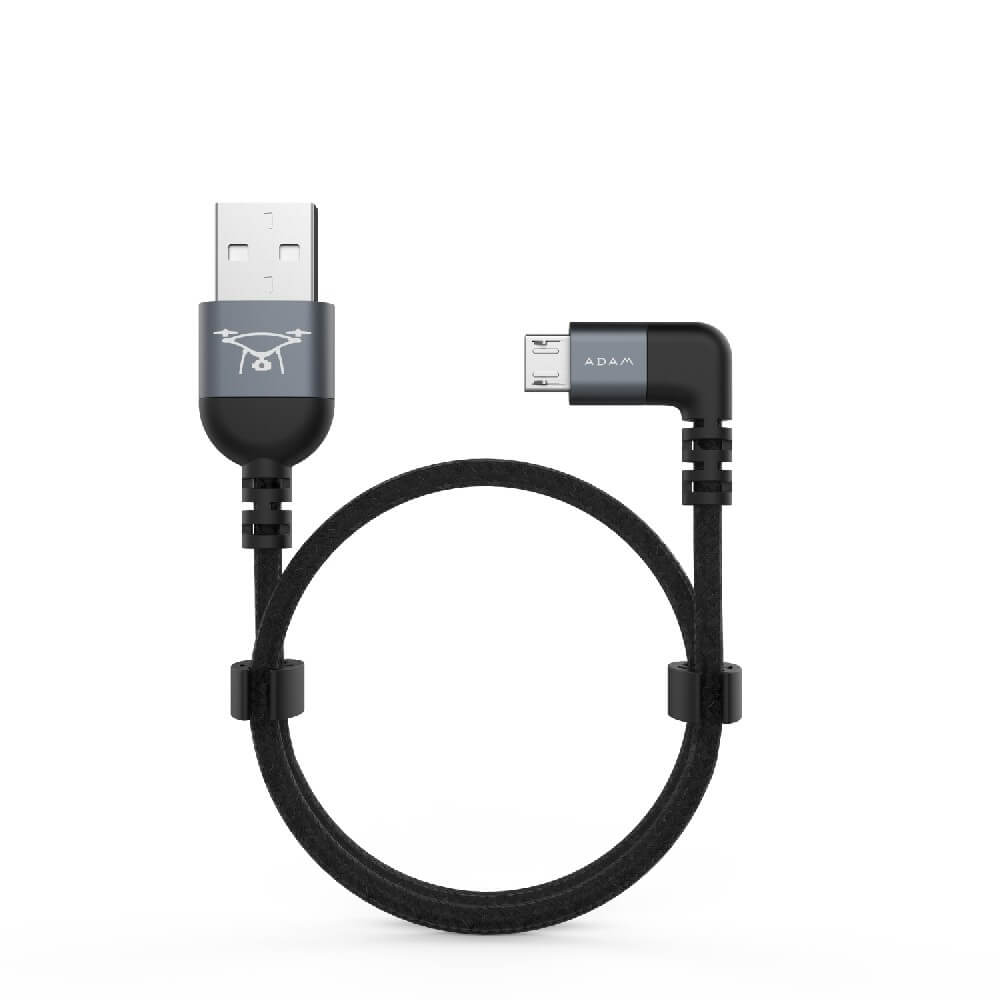 Adam Elements PeAk II USB/Micro-USB Cable - Micro-USB кабел за DJI Remote Controller (30см) (сив)