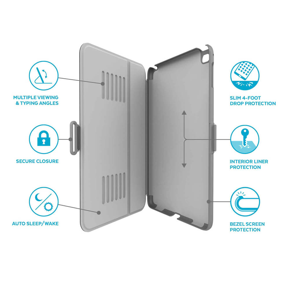 new concept 35ae1 0c1a6 Speck Balance Folio Case - текстилен калъф и поставка за iPad Air 3 (2019),  iPad Pro 10.5 (черен)