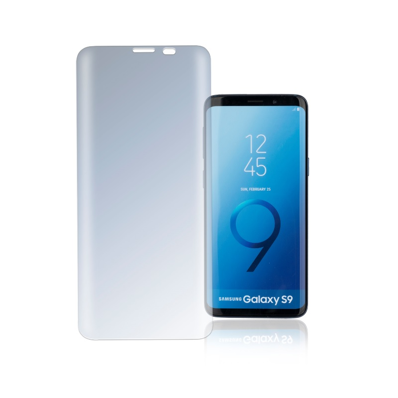 4smarts Second Glass Curved Privacy Case Friendly for Samsung Galaxy S9 (clear)