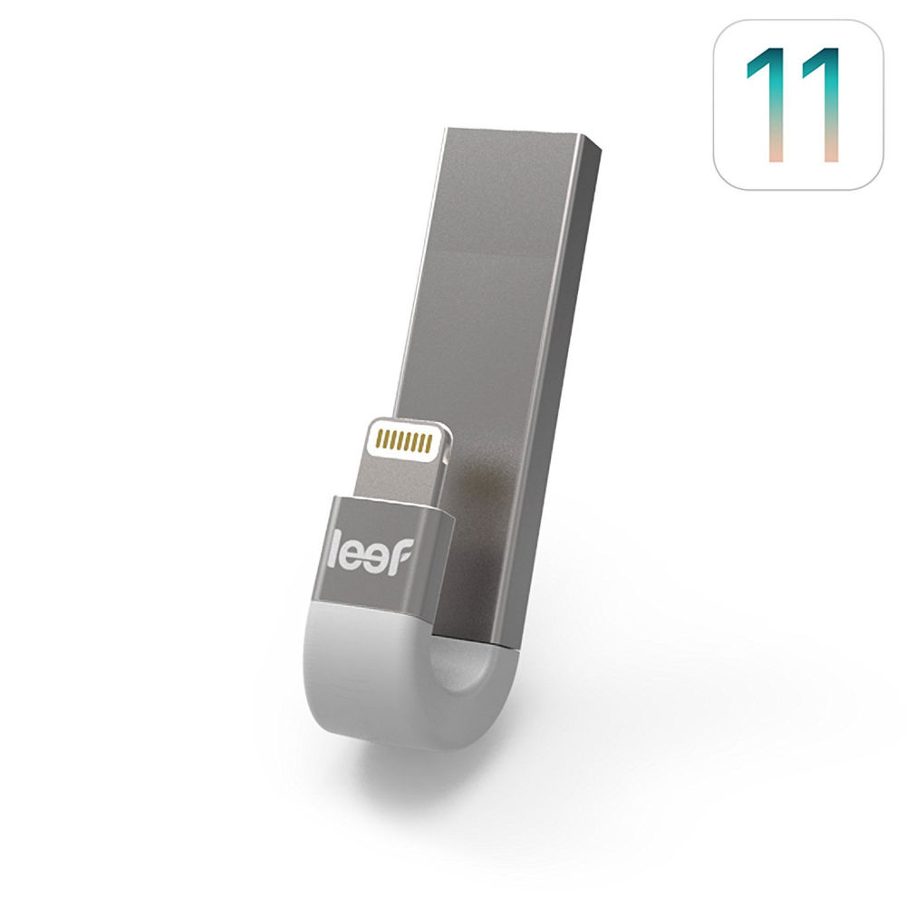 Leef iBRIDGE 3 Mobile Memory 32GB - външна памет за iPhone, iPad, iPod с Lightning (32GB) (сребрист)