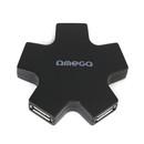 Omega Star 4-Port USB Hub - 4-портов USB 2.0 хъб за компютри и лаптопи