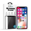 Prodigee 3D Super Glass - калено стъклено защитно покритие за дисплея на iPhone X (прозрачен-черен)