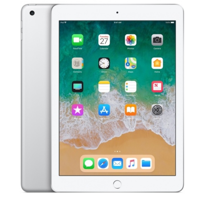 Apple iPad 6 (2018) Wi-Fi + Cellular, 128GB, 9.7 инча (сребрист)