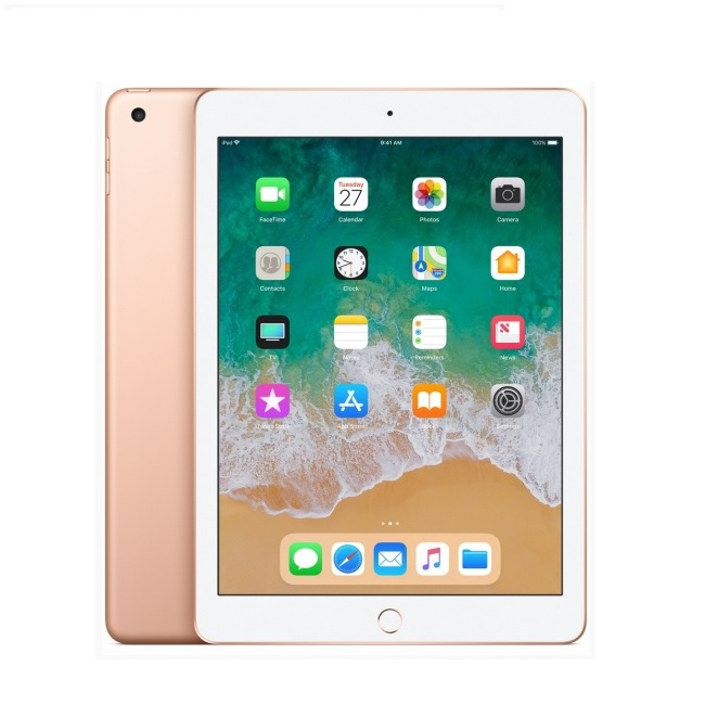 Apple iPad 6 (2018) Wi-Fi + Cellular, 128GB, 9.7 инча (златист)