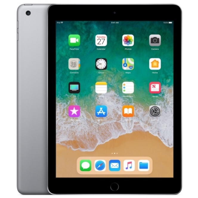 Apple iPad 6 (2018) Wi-Fi 128GB, 9.7 инча (сив)