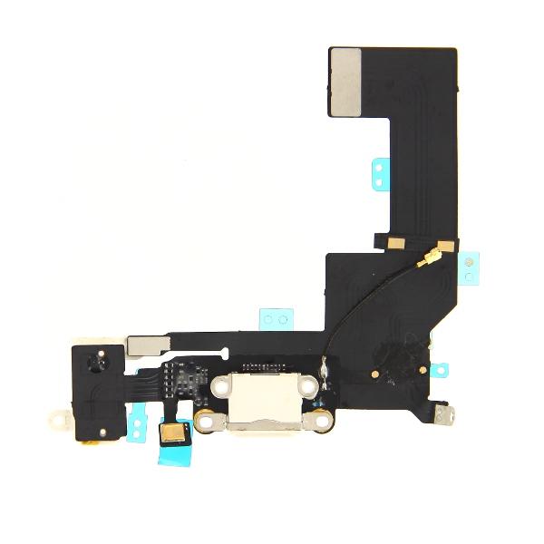 OEM System Connector FlexCable and Audio - резервен захранващ лентов кабел (Lightning), микрофон и модул за звука за iPhone SE (бял)