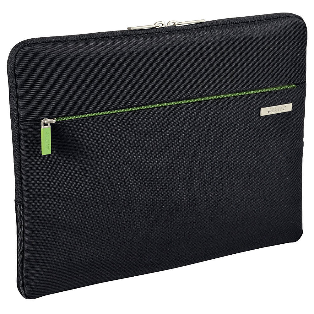 Leitz Complete Laptop Power Sleeve - качествен калъф за MacBook Pro Touch Bar 15 и лаптопи до 15.6 инча (черен)