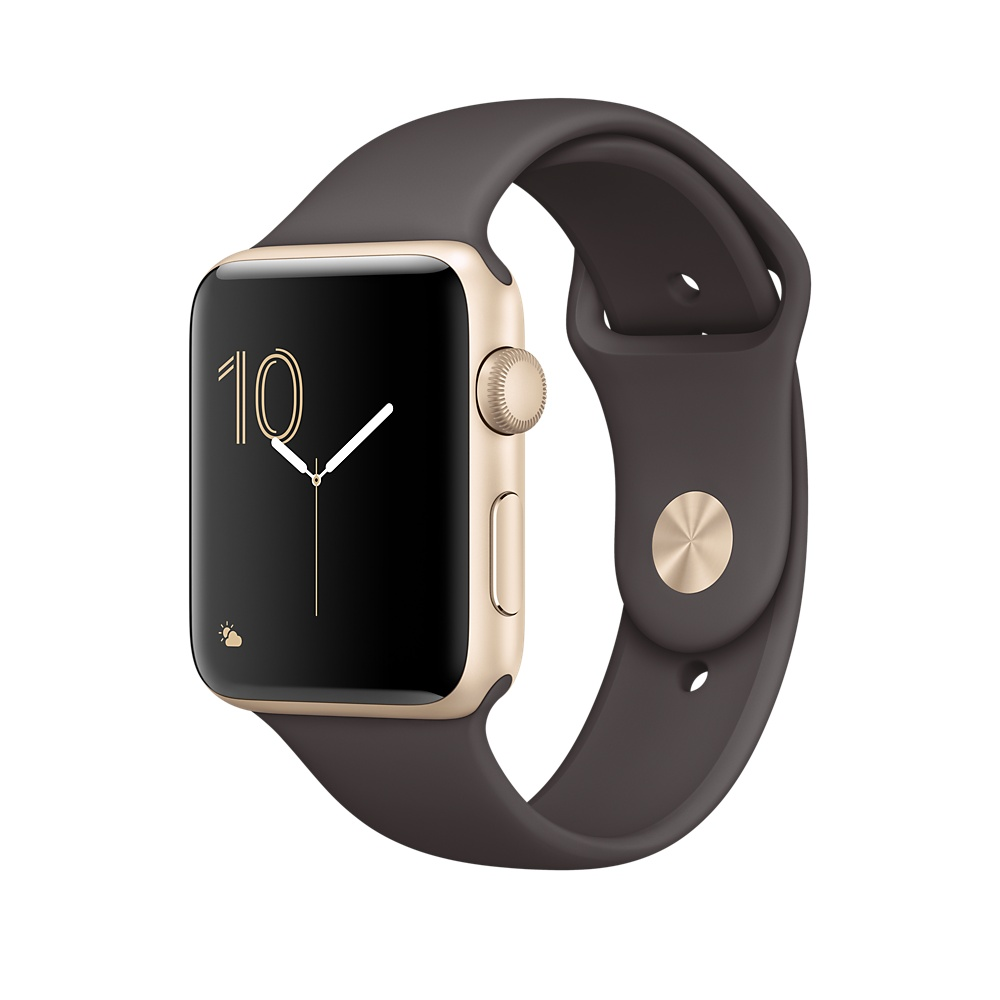 Apple Sport Band S/M & M/L - оригинална силиконова каишка за Apple Watch 42мм, 44мм (кафяв) (reconditioned) (Apple Box)