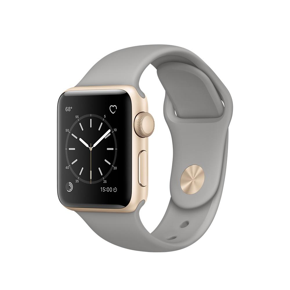 Apple Sport Band S/M & M/L - оригинална силиконова каишка за Apple Watch 38мм, 40мм (сив) (reconditioned) (Apple Box)
