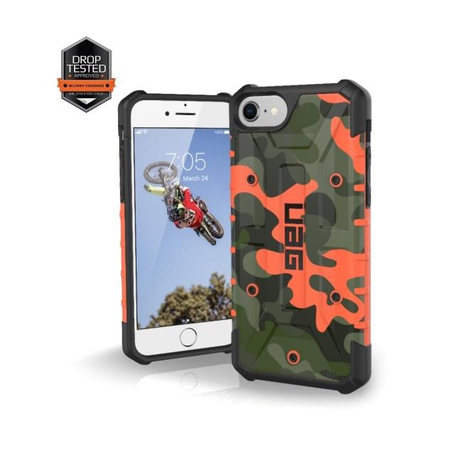 buy online 2948e a1e0e Urban Armor Gear Pathfinder - удароустойчив хибриден кейс за iPhone 8,  iPhone 7 (оранжев-камуфлаж)
