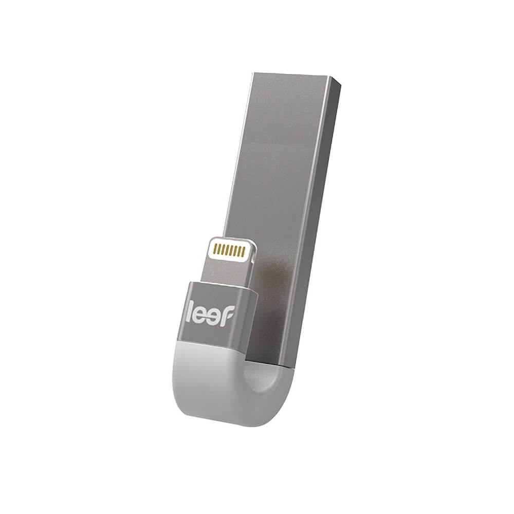 Leef iBRIDGE 3 Mobile Memory 128GB - външна памет за iPhone, iPad, iPod с Lightning (128GB) (сребрист)